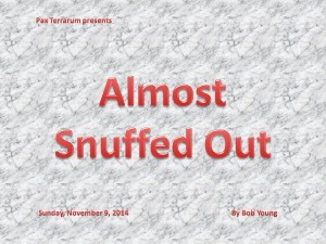20141109 Almost Snuffed Out