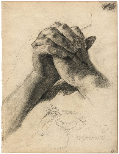 """The Praying Hands"" by Otto Greiner (1869–1916)"